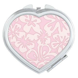 Pastel Pink Flower Art Travel Mirror