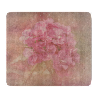 PASTEL PINK Flower - Glass Cutting Board