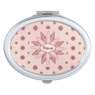 Pastel Pink Flower Stars Mirrors For Makeup