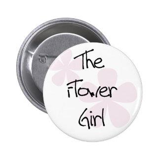 Pastel Pink Flowers Flower Girl 6 Cm Round Badge