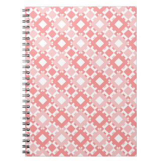 Pastel Pink Geometric Design Spiral Notebook