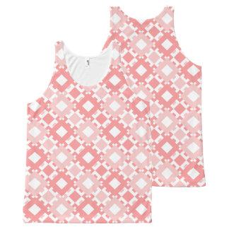 Pastel Pink Geometric Design Tank Top