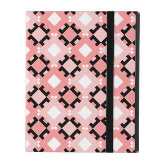 Pastel Pink Geometric Pattern Design iPad Case