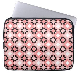 Pastel Pink Geometric Pattern Laptop Sleeve