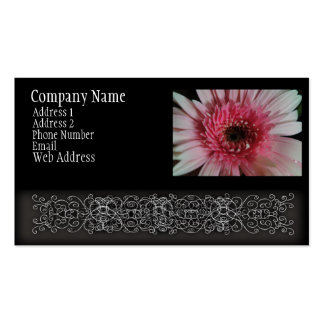 Pastel Pink Gerber Daisy Business Card Templates