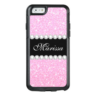 Pastel Pink Glitter Otterbox iPhone 6/6s Case