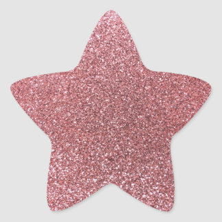 Pastel pink glitter stickers