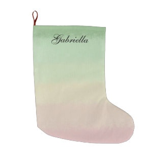 Pastel Pink Green Ombre Personalized