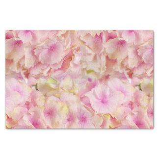 Pastel Pink Hydrangeas Tissue Paper