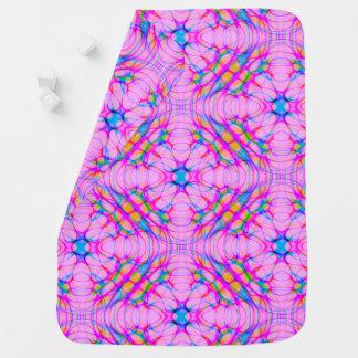 Pastel Pink Kaleidoscope Pattern Abstract Baby Blanket