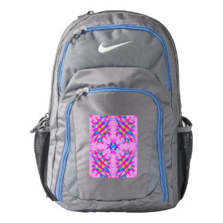 Pastel Pink Kaleidoscope Pattern Abstract Backpack