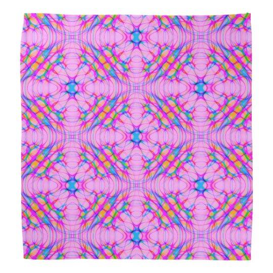 Pastel Pink Kaleidoscope Pattern Abstract Bandana