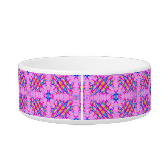 Pastel Pink Kaleidoscope Pattern Abstract Bowl