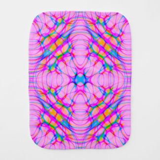 Pastel Pink Kaleidoscope Pattern Abstract Burp Cloth