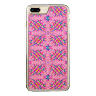 Pastel Pink Kaleidoscope Pattern Abstract Carved iPhone 8 Plus/7 Plus Case