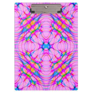 Pastel Pink Kaleidoscope Pattern Abstract Clipboard