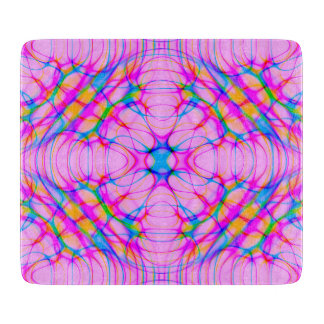 Pastel Pink Kaleidoscope Pattern Abstract Cutting Board