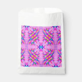 Pastel Pink Kaleidoscope Pattern Abstract Favour Bag