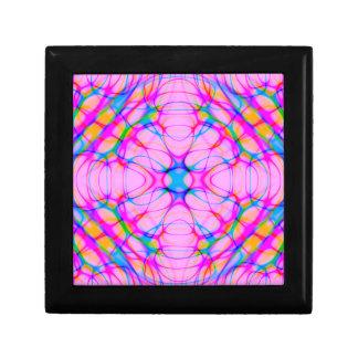 Pastel Pink Kaleidoscope Pattern Abstract Gift Box