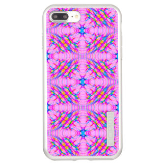 Pastel Pink Kaleidoscope Pattern Abstract Incipio DualPro Shine iPhone 8 Plus/7 Plus Case