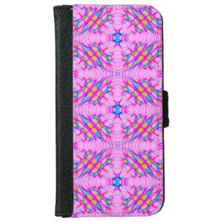 Pastel Pink Kaleidoscope Pattern Abstract iPhone 6 Wallet Case