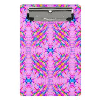 Pastel Pink Kaleidoscope Pattern Abstract Mini Clipboard