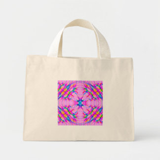 Pastel Pink Kaleidoscope Pattern Abstract Mini Tote Bag
