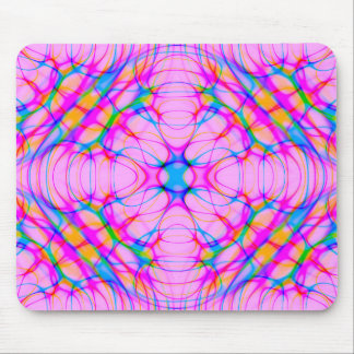 Pastel Pink Kaleidoscope Pattern Abstract Mouse Pad