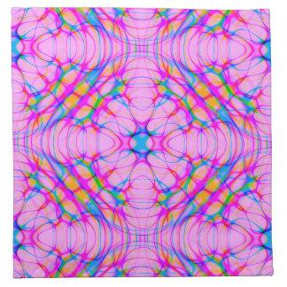Pastel Pink Kaleidoscope Pattern Abstract Napkin