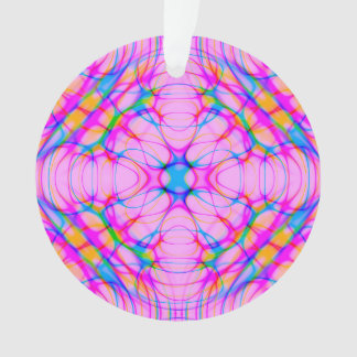 Pastel Pink Kaleidoscope Pattern Abstract Ornament