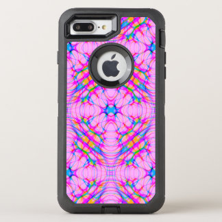 Pastel Pink Kaleidoscope Pattern Abstract OtterBox Defender iPhone 8 Plus/7 Plus Case