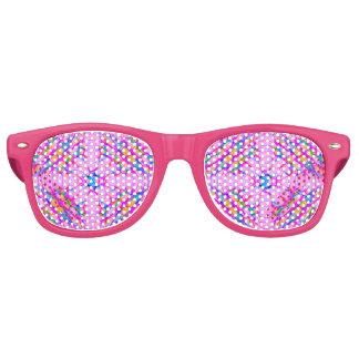 Pastel Pink Kaleidoscope Pattern Abstract Retro Sunglasses