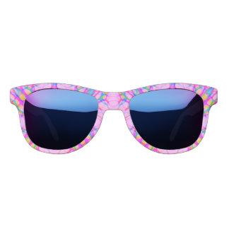 Pastel Pink Kaleidoscope Pattern Abstract Sunglasses