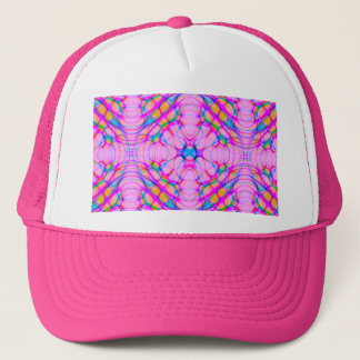 Pastel Pink Kaleidoscope Pattern Abstract Trucker Hat