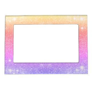Pastel Pink Lavender Gold Glitter Sparkle Magnetic Frame