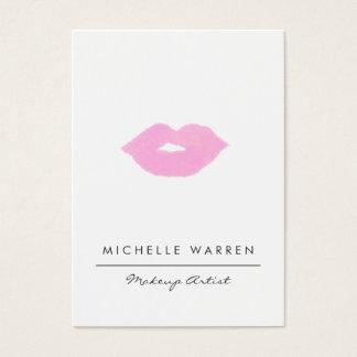 Pastel Pink Lips Watercolor Makeup Artist