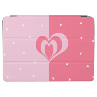 pastel pink love heart geometric triangles pattern iPad air cover