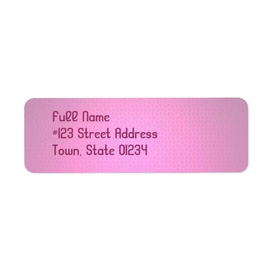 Pastel Pink Mailing Labels