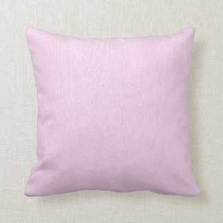 Pastel Pink Natural Fox Leather Look Cushion