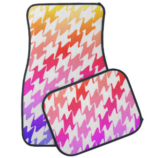 Pastel Pink Orange Yellow Purple Car Mat