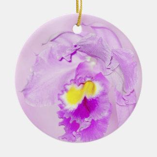 Pastel Pink Orchid Ceramic Ornament