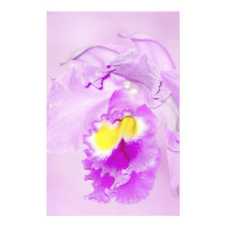 Pastel Pink Orchid Customized Stationery