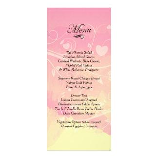 Pastel Pink & Pale Yellow Watercolor Love Customised Rack Card