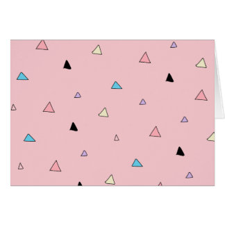 Pastel Pink Pieces Candy Chips Geometric Triangles Card
