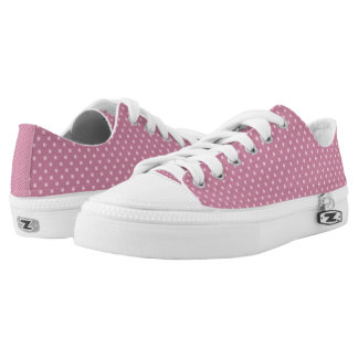 Pastel Pink Polka Dot Pattern Printed Shoes