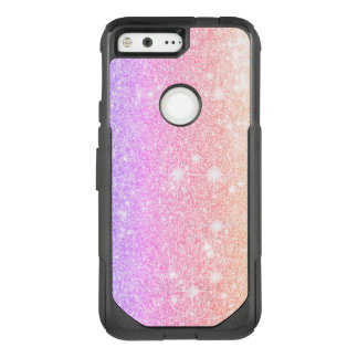 Pastel Pink Purple Glitter Shine Look OtterBox Commuter Google Pixel Case