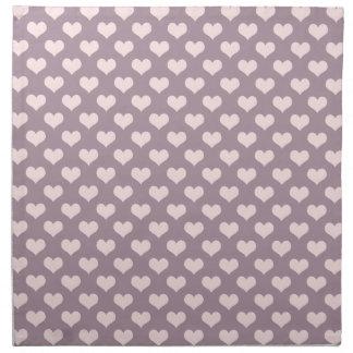 pastel pink purple love hearts polka dots pattern napkin