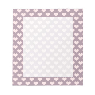 pastel pink purple love hearts polka dots pattern notepad