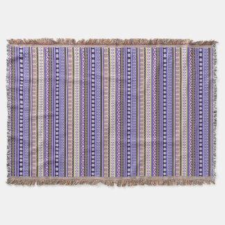 Pastel Pink & Purple Nordic Knit Snowflake Graphic Throw Blanket