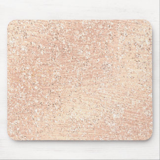 Pastel Pink Rose Gold Crystal Metallic Copper Mouse Pad
